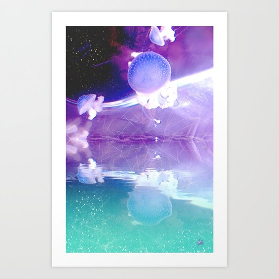 The Jellyfish - for iphone Art Print