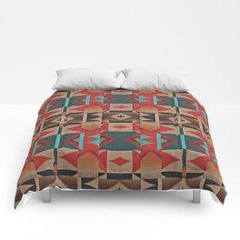 Native American Indian Tribal Mosaic Rustic Cabin Pattern Comforters
