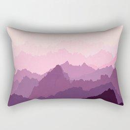 Mountains in Pink Fog Rectangular Pillow