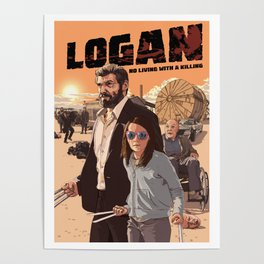 Logan - No Living with a Killing (Sunset variation) Poster