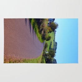 Country road with scenery II | landscape photography Rug