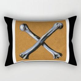 Bones , Traditional Tattoo Rectangular Pillow