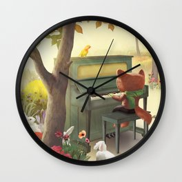 Forest Piano Wall Clock