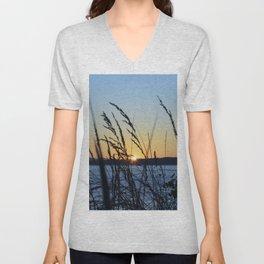 Sunset Sea Grass Unisex V-Neck