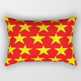 Gold Stars Rising Rectangular Pillow