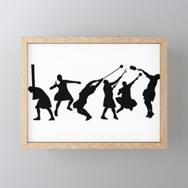 Scottish Highland Games Men Framed Mini Art Print