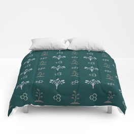 Seamless Pattern Trees and Honeycombs 5 Comforters
