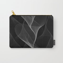 Black and White Flux #minimalist #homedecor #generativeart Carry-All Pouch