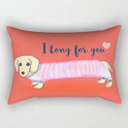Valentine's Day dachshund dog Rectangular Pillow