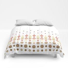 Dot Escalation // Taupe + Rust Comforters