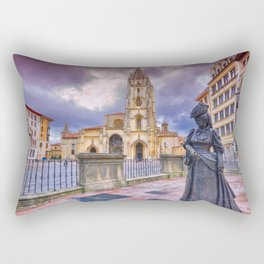 Cathedral of San Salvador  in Oviedo. Rectangular Pillow