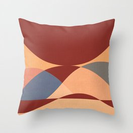Sinuous Curves 1 Throw Pillow