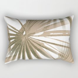 Brown on White Tropical Vibes Beach Palmtree Vector Rectangular Pillow