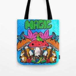 Magical Garden Creatures Tote Bag