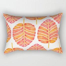 Elephant Ear Alocasia – Peach Palette Rectangular Pillow