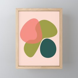 Living Coral Abstract 1 Framed Mini Art Print