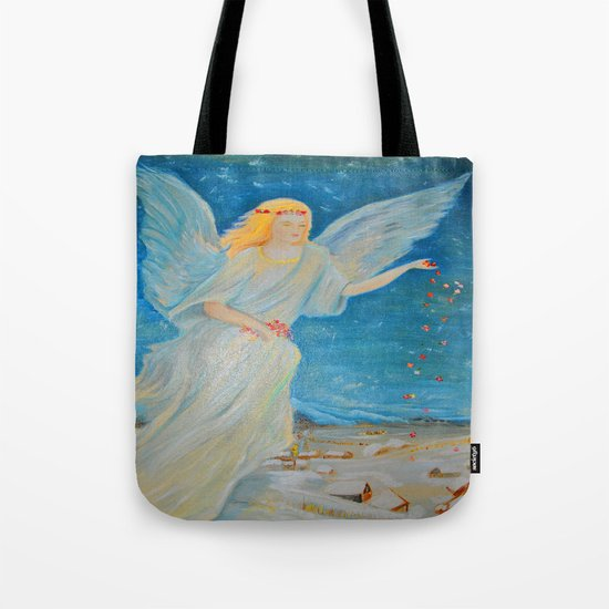 Bless me | Guardian Angels are Here | Angel of Abundance | Love Tote Bag