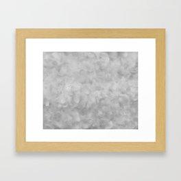 Soft Gray Clouds Texture Framed Art Print