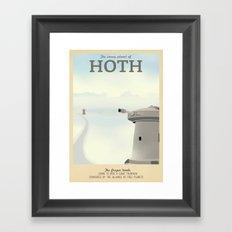 Retro Travel Poster Series - Star Wars - Hoth Framed Art Print