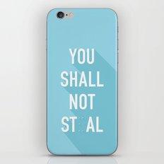 The Eighth Commandment iPhone & iPod Skin