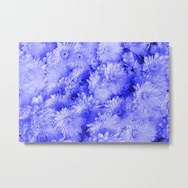 Periwinkle Floral Garden Metal Print