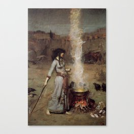 The Magic Circle, John William Waterhouse Canvas Print