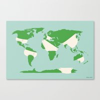 Incontinents Canvas Print