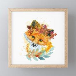 Autumn Fox Framed Mini Art Print
