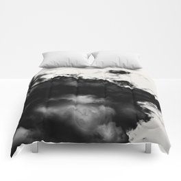 black and white abstraction Comforters