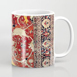 Silk Heriz Azerbaijan Northwest Persian Rug Print Coffee Mug