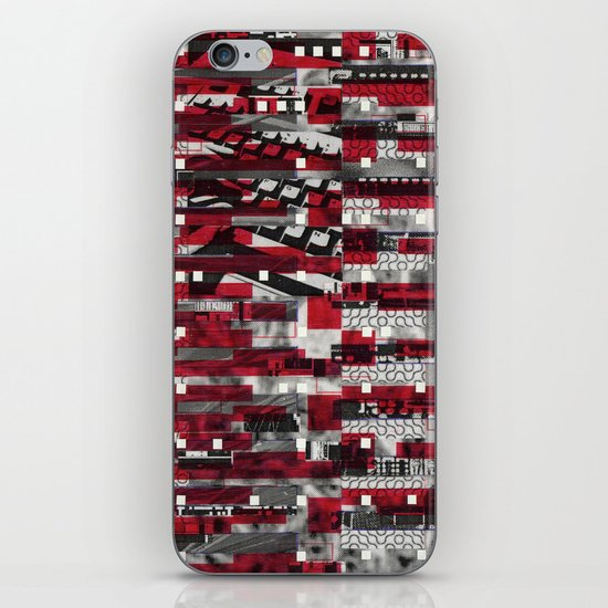 Nothing Is Accomplished (P/D3 Glitch Collage Studies) iPhone & iPod Skin