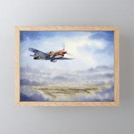 P-40 Warhawk Aircraft Framed Mini Art Print