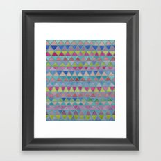 Colored Watercolor Triangles Framed Art Print