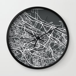 Algiers Algeria Map in Retro Style. Wall Clock