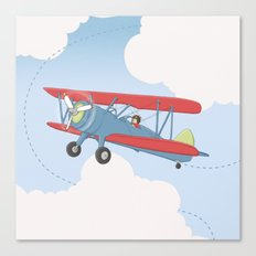 Aviator Up and Away Canvas Print