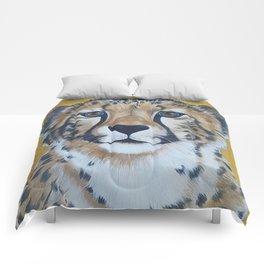 Cheetas, acrylic on canvas Comforters