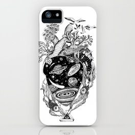 Cosmos Space Heart iPhone Case