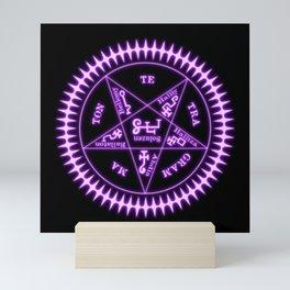 Sebastian Michaelis Sigil Light (black bg) Mini Art Print