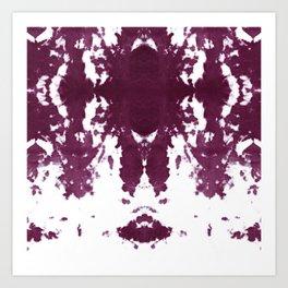 Velvet Kumo Shibori Plum Art Print