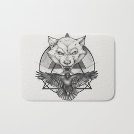 Wolf and Crow - Emblem Bath Mat