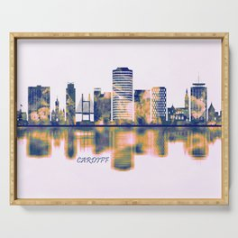 Cardiff Skyline Serving Tray