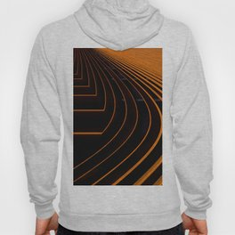 orange lines and shapes Hoody