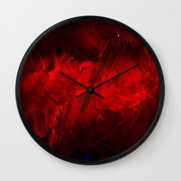 Red And Black Luxury Abstract Gothic Glam Chic by Corbin Henry Wall Clock