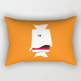 Ghost Tootsie Roll, Bonbon fantôme - Halloween party Rectangular Pillow