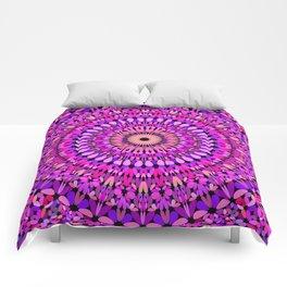 Pink and Purple Gravel Mandala Comforters