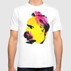 Friedrich Wilhelm Nietzsche Mens Fitted Tee MEDIUM White
