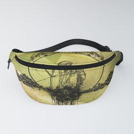 Awesome creepy skeleton with skull Fanny Pack