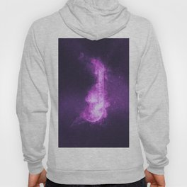 Quarter music note symbol. Abstract night sky background Hoody
