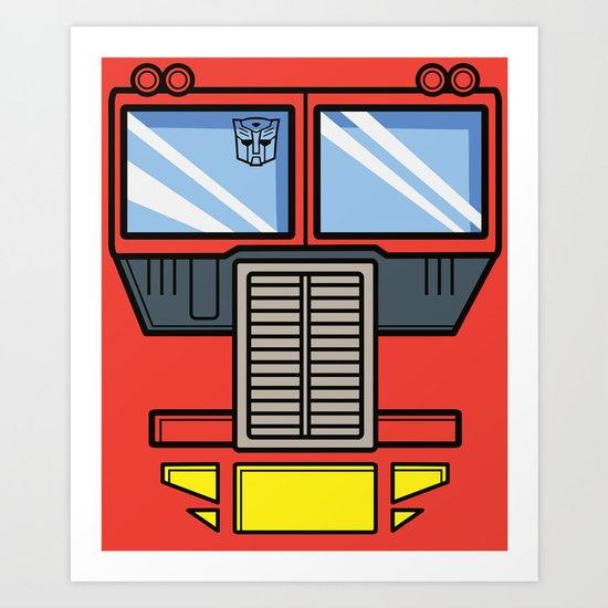 Transformers - Optimus Prime Art Print