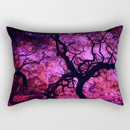 Under the Tree in Pink and Purple Rectangular Pillow